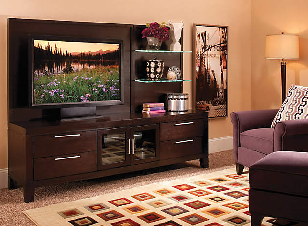 Fitting In A Flat Screen Contemporary Wall Units Raymour And