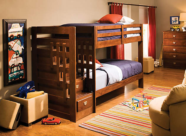 Give Your Kids More Room To Play With A Built In Storage Bunk Bed. Thereu0027s  No Need For A Second Dresser When Youu0027ve Got Drawers Built Into The Steps  And ...