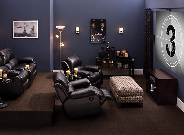 Then, Paint Your Room A Dark Shade Like Navy Blue To Make Your Walls Fade  Into The Background During Showtime.