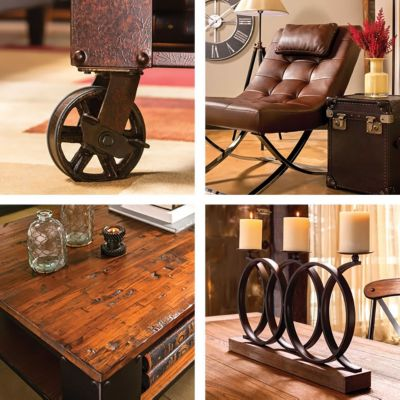 Metal Is The Calling Card Of Industrial Decor, So Look For Pieces Featuring  Metal Legs Or Nailhead Trim Furniture ...