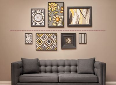 The Line Art And Living : How to diy hang and arrange wall art the of arranging
