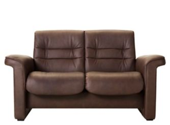 Stressless Shire Leather Reclining Low Back Loveseat