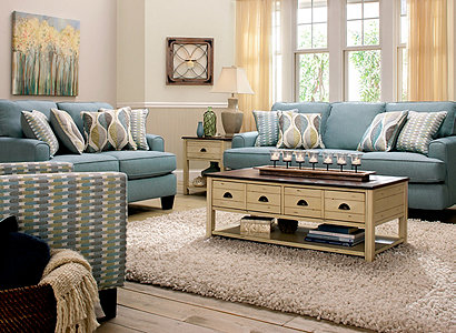 Willoughby Contemporary Living Room Collection Design