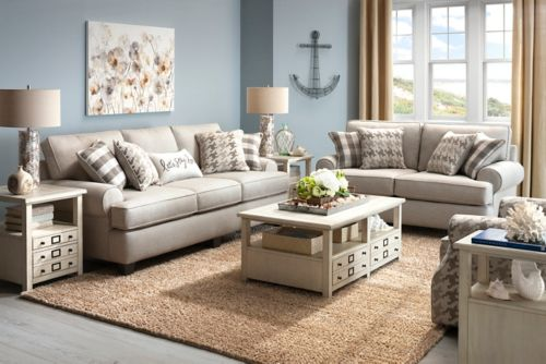 Shiloh 2 Pc Sofa And Loveseat Set, Raymour And Flanigan Living Room Sets