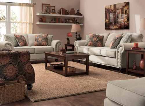 Corliss 2 Pc Sofa And Loveseat Set, Raymour And Flanigan Living Room Sets
