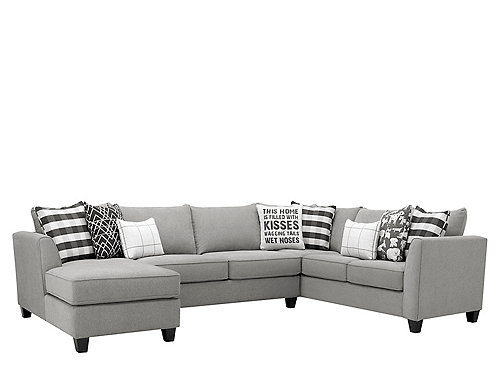 Daine 3 Pc Sectional Sofa Pebble