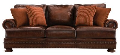 Foster Leather Sofa Walnut Raymour Flanigan