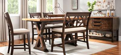 Dining Sets With Bench 3-pc, 5-pc & 7-pc dining sets | glass, formal & modern dining sets