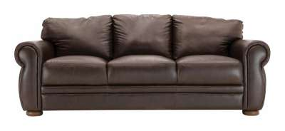 Marsala Leather Sofa