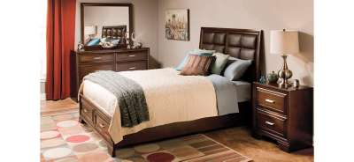Bedroom Sets With Storage Beds levine 4-pc. queen platform bedroom set w/ storage bed - brown
