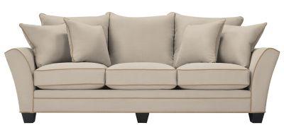 Briarwood Microfiber Sofa Light Taupe Khaki Raymour Flanigan