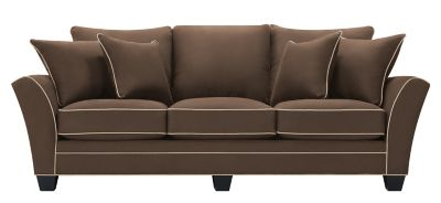 Briarwood Microfiber Sofa Chocolate Khaki Raymour Flanigan