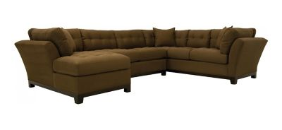 cindy crawford home metropolis 3pc microfiber sectional sofa