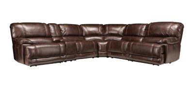 Sectional Sofa w/ 2 Power Recliners  sc 1 st  Raymour u0026 Flanigan : sectional sofas recliners - Sectionals, Sofas & Couches