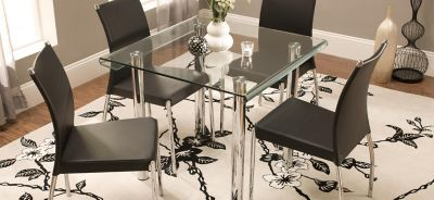 Glass Dining Set. Product Image