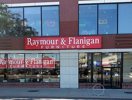 Complete List of Raymour & Flanigan Furniture Locations This is a complete list of Raymour and Flanigan locations along with their geographical coordinates. Raymour and Flanigan stores sell affordable dining room, living room, and bedroom furniture .