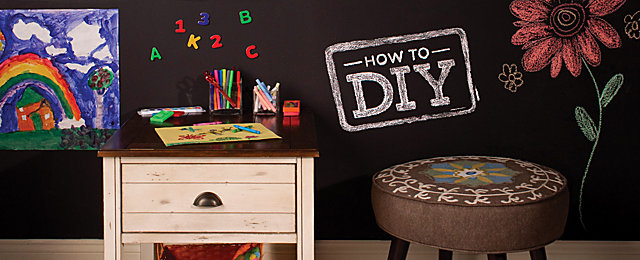 How To DIY: Chalkboard Paint | Raymour And Flanigan Furniture Design Center