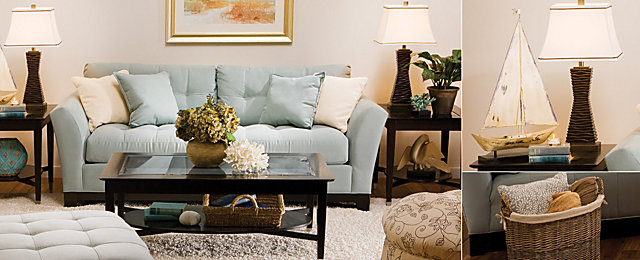 Color Story u2013 Decorating With Blue | Monochromatic | Raymour and Flanigan Furniture Design Center : raymour and flanigan cindy crawford sectional - Sectionals, Sofas & Couches