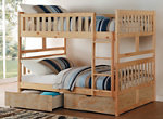 Carissa Full Bunk Bed with Storage