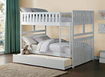 Carissa Full Bunk Bed with Trundle