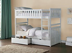 Carissa Twin Bunk Bed with Storage
