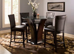 """Venice 5-pc. 48"""" Glass Counter-Height Dining Set"""
