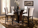 """Venice 5-pc. 54"""" Glass Counter-Height Dining Set"""