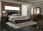 Avalon 4-pc. Upholstered King Panel Bedroom Set w/ Square Mirror