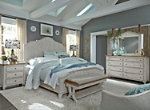 Farmhouse Reimagined 4-pc. King Panel Bedroom Set w/ Drawer Nightstand