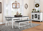 Shelby 3-pc. Dining Set w/Benches