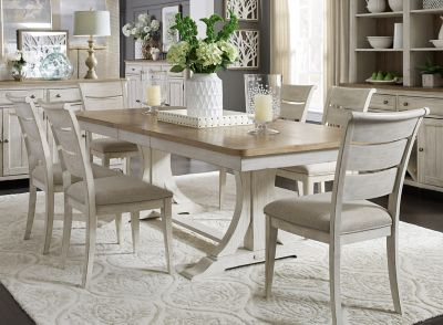 Farmhouse Reimagined 7 Pc Dining Set, Raymour And Flanigan Dining Room Sets