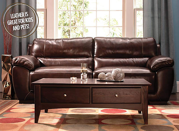 full grain leather sofa Luxurious Leather | Raymour and Flanigan Furniture Design Center full grain leather sofa