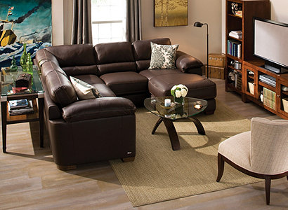 Cindy Crawford Home 174 Maglie Contemporary Leather Living