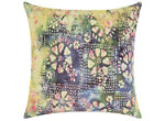 Mina Victory Watercolor Petals Multicolor Outdoor Throw Pillow
