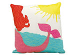 Mina Victory Mermaid Multicolor Outdoor Throw Pillow