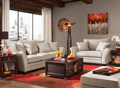 Briarwood Contemporary Microfiber Living Room Collection Design