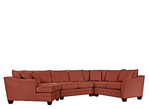 Foresthill 4 Pc Microfiber Sectional Sofa Suede So Soft