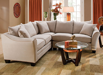 Foresthill Contemporary Microfiber Living Room Collection | Design ...