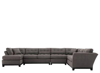 Cindy Crawford Home Metropolis 4 Pc. Microfiber Sectional Sofa