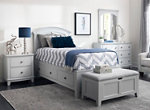 Kylie Youth 4-pc. Full Platform Bedroom Set w/ 1-sd.  Storage Bed