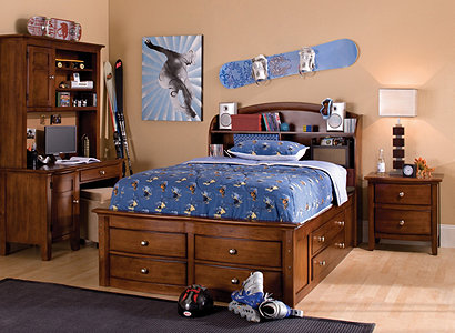 Anderson Transitional Kids Bedroom Collection Design