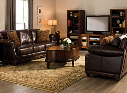 Alexander Traditional Leather Living Room Collection | Design Tips U0026 Ideas  | Raymour And Flanigan Furniture Part 84