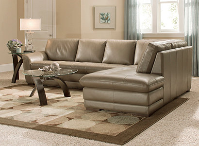 If taupe is your choice try a soft wall color like light robinu0027s egg or honey to offset Garrisonu0027s leather upholstery and make it the star of the room. : raymour flanigan sectional - Sectionals, Sofas & Couches