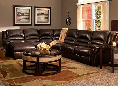 Living Room Ideas Mocha mason casual leather with vinyl match living room collection