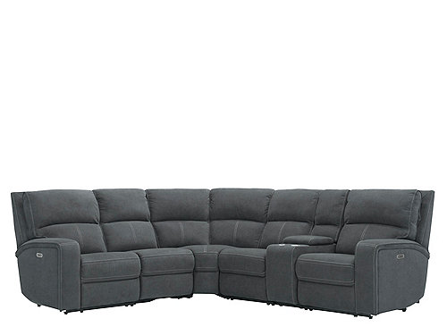 Pc Sectional Sofa W 3 Recliners