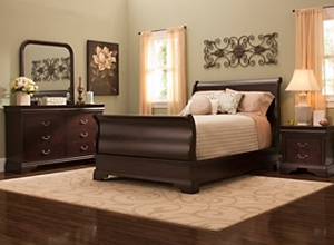 chambers open bed furniture headboard with frame pdp