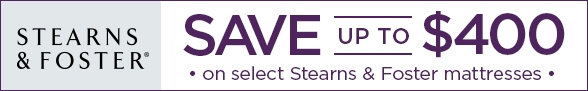 Save Up To $400 on Select Stearns & Foster Mattresses