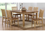 Brook 7-pc. Dining Set w/ Slat Back Chairs