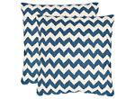 Striped Tealea Throw Pillows: Set of 2