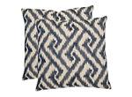 Teddy Geometric Pillow: Set of 2
